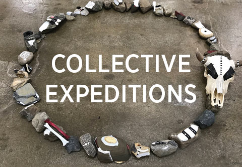 Collective Expeditions poster with image of artwork