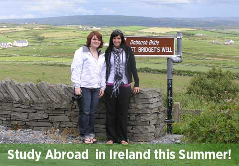 Study Abroad in Ireland: Students by Bridget's Well