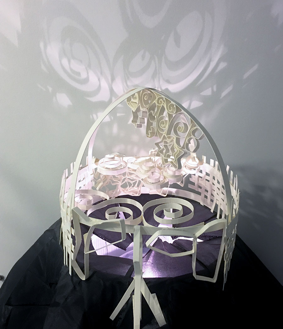 Paper Sculpture of Head