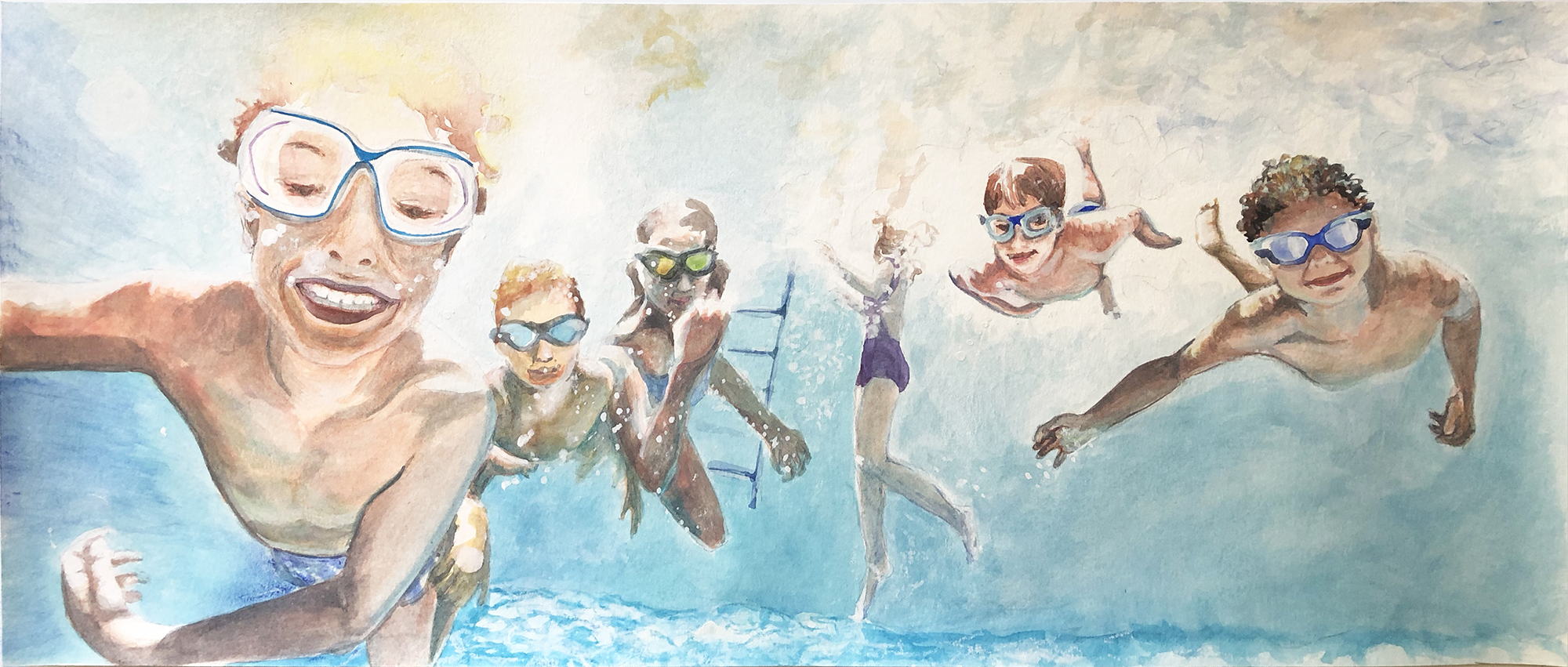 swimmers painting