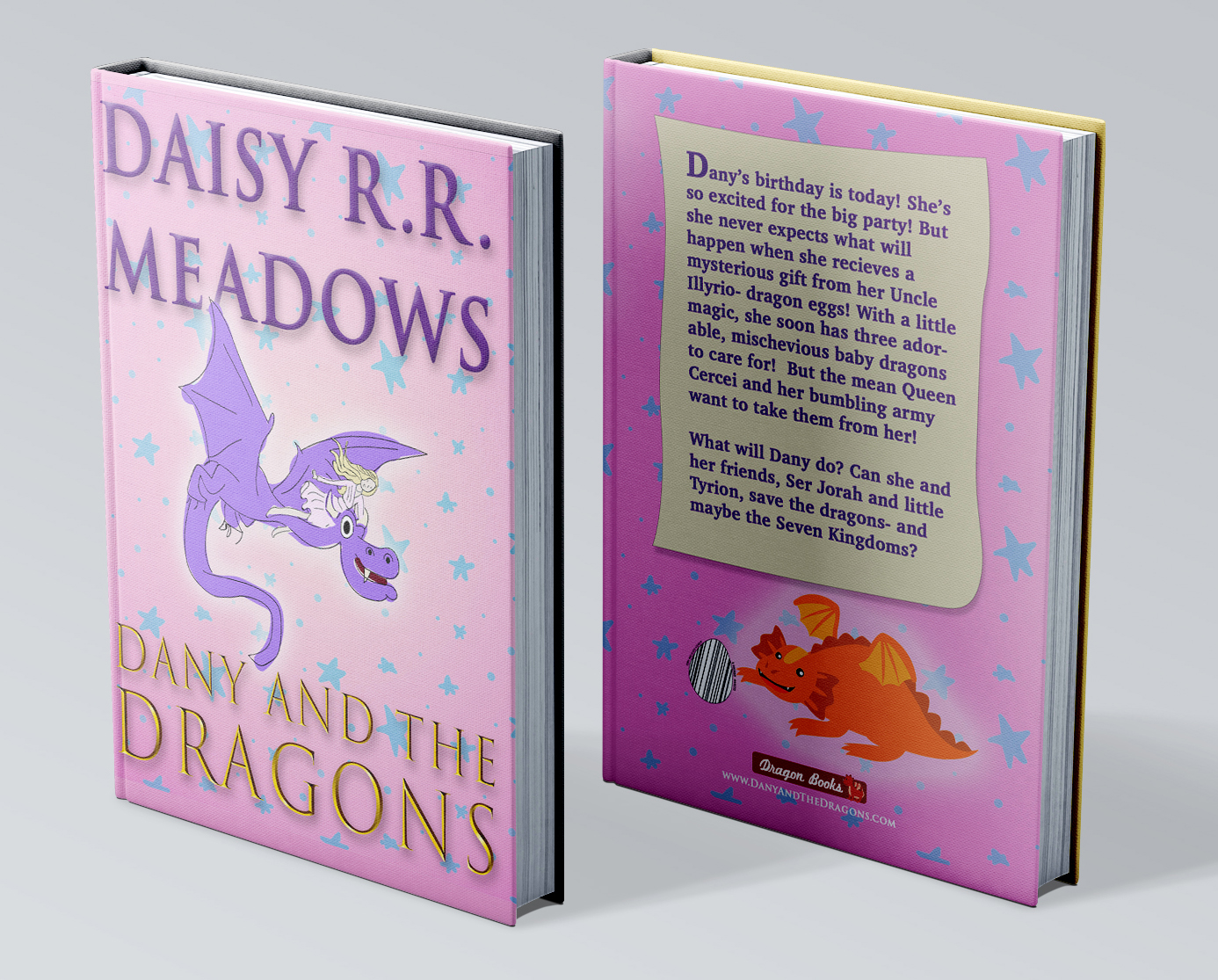 "book with pink dragon and title ""Dany and the Dragons"""