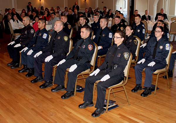 Police officer graduation