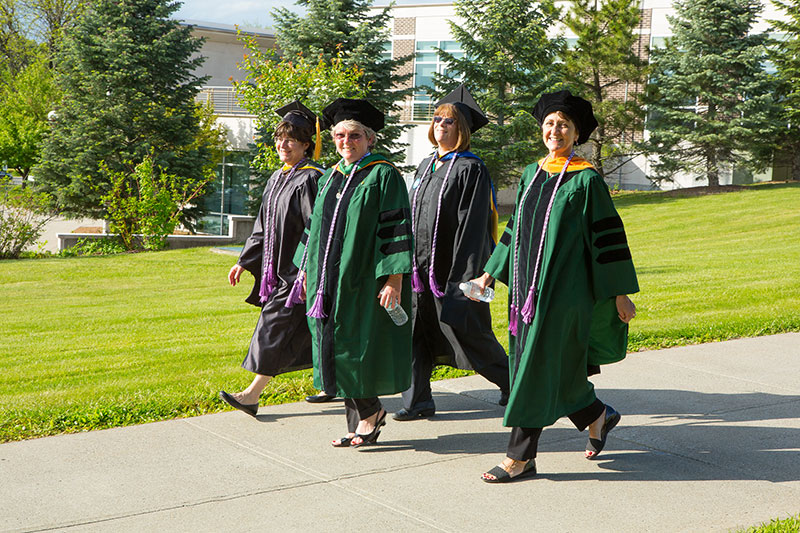 Faculty Walking in Commencement