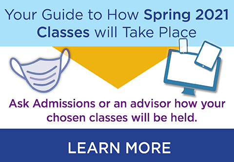 Learn about how classes will be delivered in Spring 2021