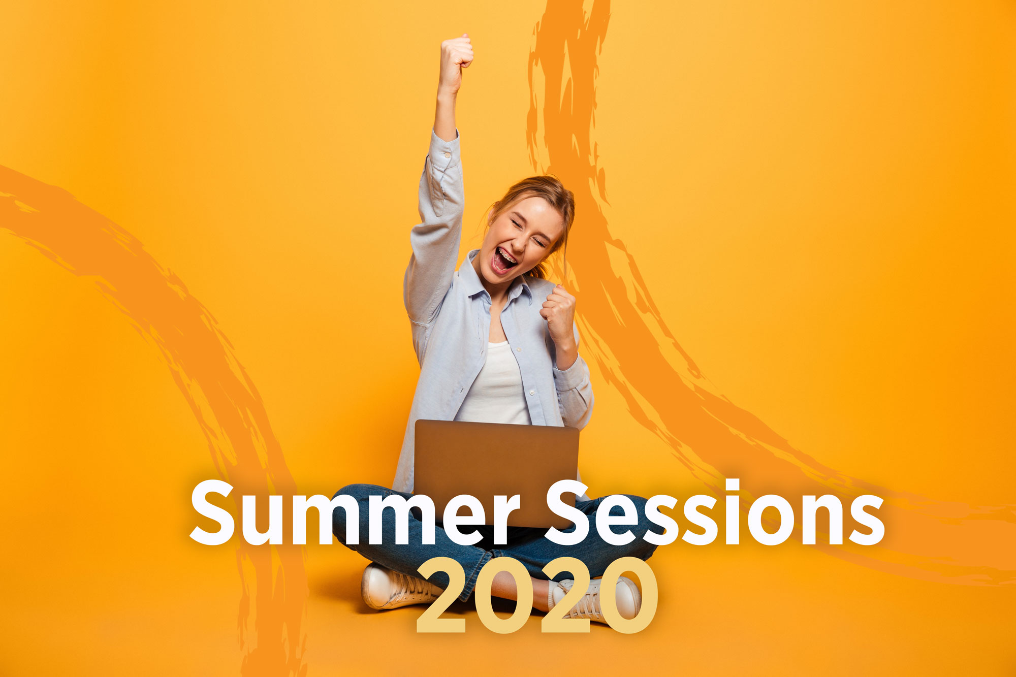 Summer Sessions 2020 with woman smiling