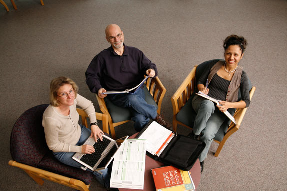 Adult Students in Library