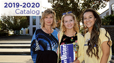 2019-20 Catalog with image of students on campus