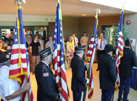 Honor guard at the dedication of the Battle Buddy Center