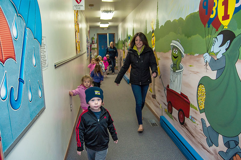 The Children's Center hallway