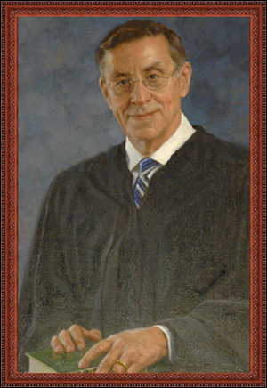 painting of judge in robes