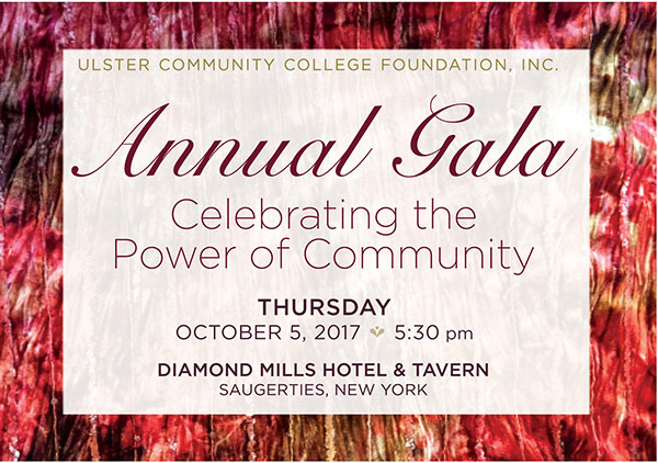 Ulster County Community College Foundation Annual Gala October 5