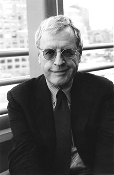 black and white photo of Charles Simic