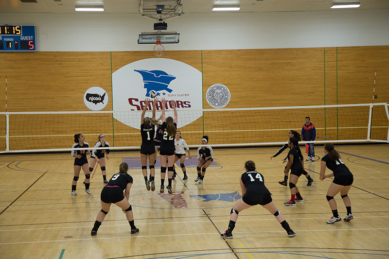 SUNY Ulster Senators womens volleyball match in action