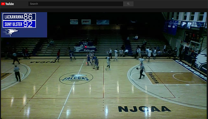 You TUbe video of SUNY Ulster vs Lackawanna
