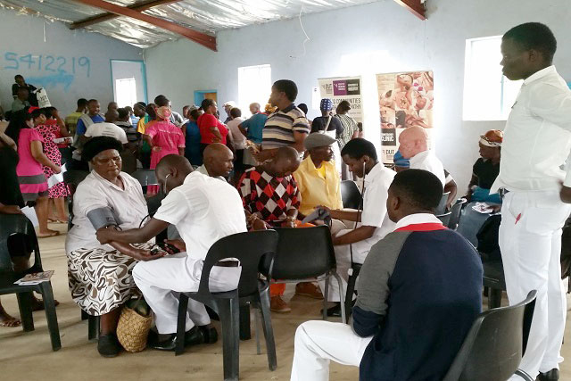 crowded medical clinic