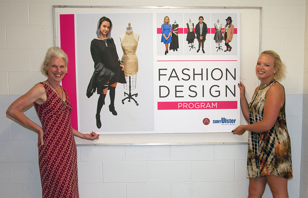 Kristin Flynn, Program Coordinator for the Fashion Desisgn Program with Student