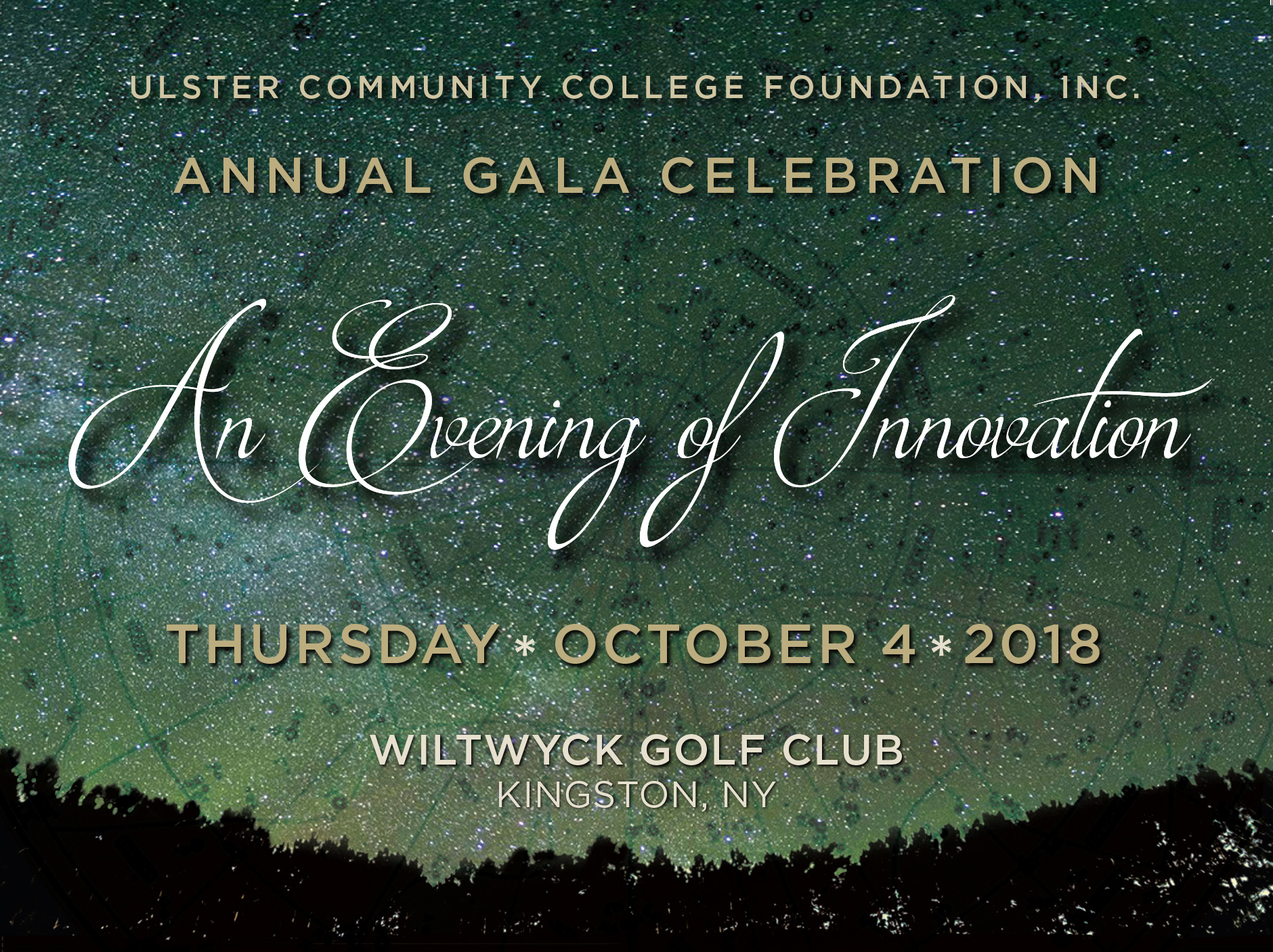 Ulster County Community College Foundation Gala invitation