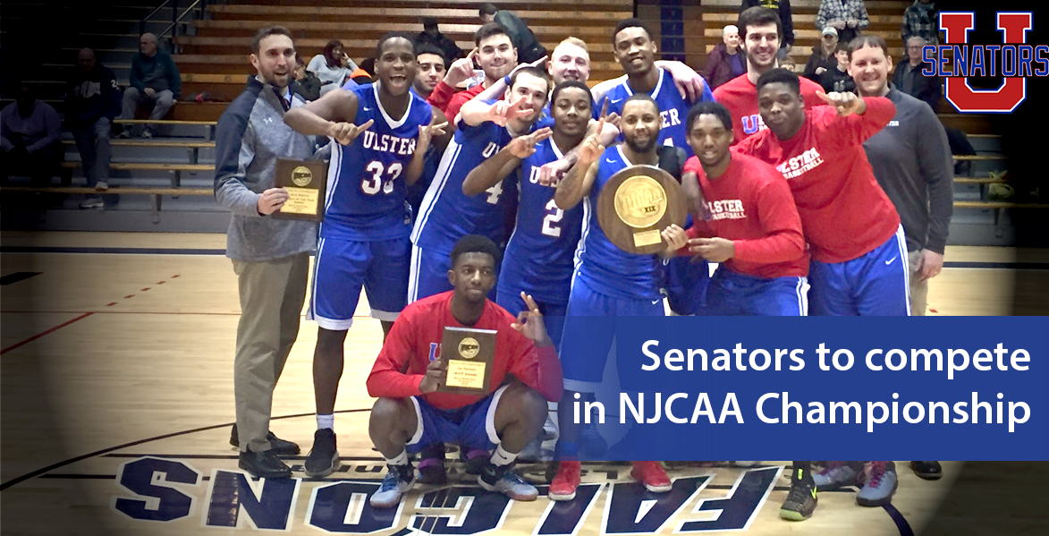 Senators with basketball and wrestling champions