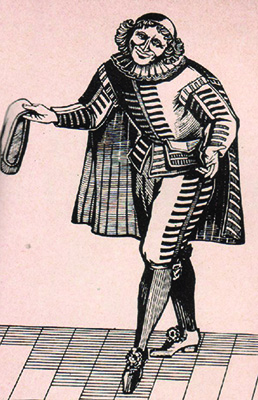 Illustration of sganarelle character by moliere