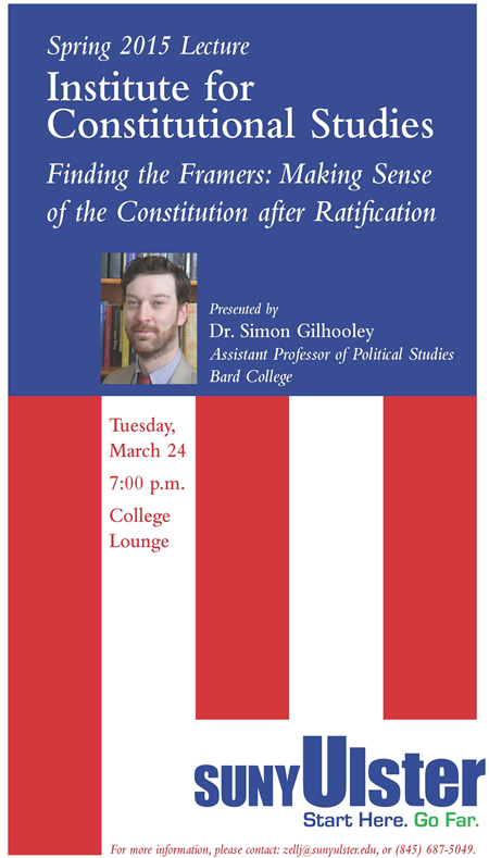 Poster for 2015 Institute for Constitutional Studies