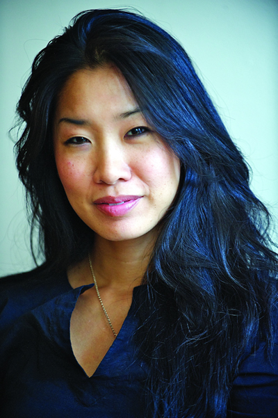 portrait of Tina Chang smiling