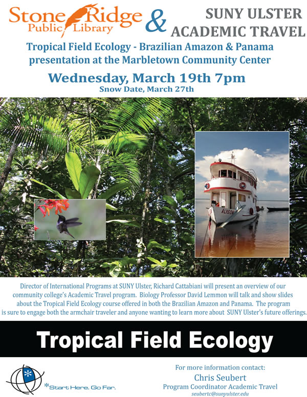 poster for Amazon Field Ecology lecture