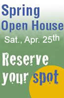 Open House April 25th
