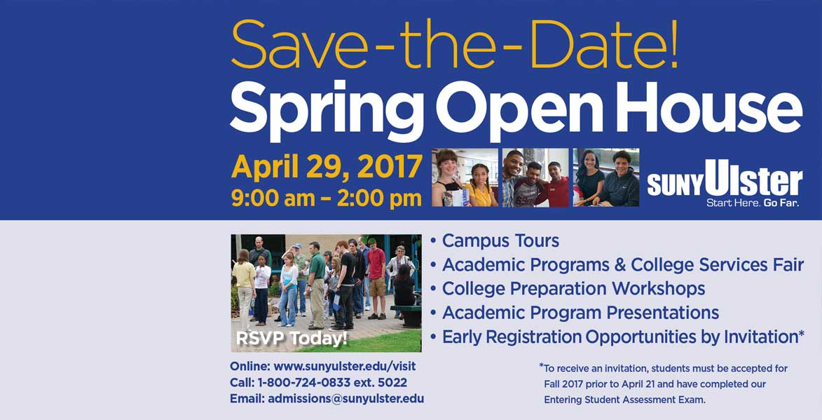 SUNY Ulster Spring Open House!